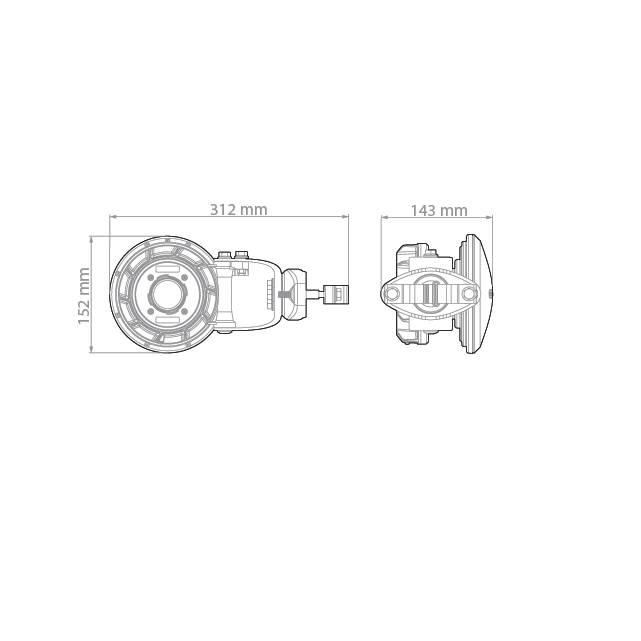 Симметричная рупорная антенна RF elements HG3-TP-S80 5GHz 10dBi