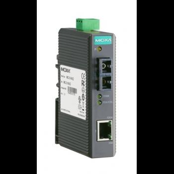 Медиаконвертер Ethernet 10/100BaseTX в 100BaseFX (одномодовое оптоволокно, разъем SC), WDM-B (передача по одной жиле) в металлическом корпусе