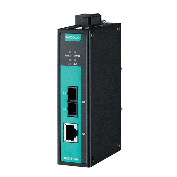 IMC-21GA-LX-SC Медиаконвертер Gigabit Ethernet 10/100/1000BaseTX в 100/1000Base SC (одномодовое оптоволокно) в металлическом корпусе