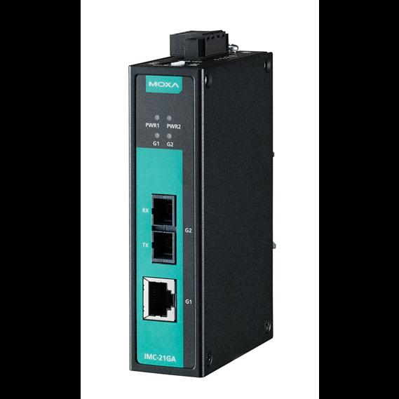 IMC-21GA-SX-SC Медиаконвертер Gigabit Ethernet 10/100/1000BaseTX в 100/1000Base SC (многомодовое оптоволокно) в металлическом корпусе