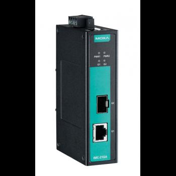 IMC-21GA-T Медиаконвертер Gigabit Ethernet 10/100/1000BaseTX в 100/1000BaseSFP в металлическом корпусе с расширенным диапазоном температур