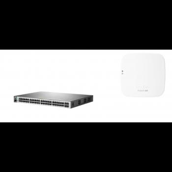 Набор: коммутатор HP 2530-48G-PoE+ & точка доступа HPE Aruba Instant On AP12 (RW)