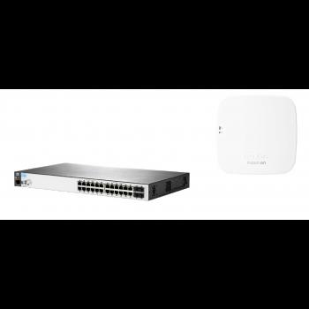 Набор: коммутатор HP 2530-24G-PoE+ & точка доступа HPE Aruba Instant On AP12 (RW)