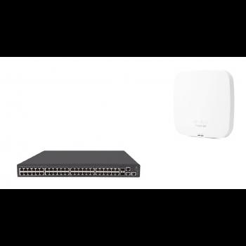 Набор: коммутатор HP 1950-48G-2SFP+-2XGT-PoE+ & точка доступа HPE Aruba Instant On AP15 (RW)
