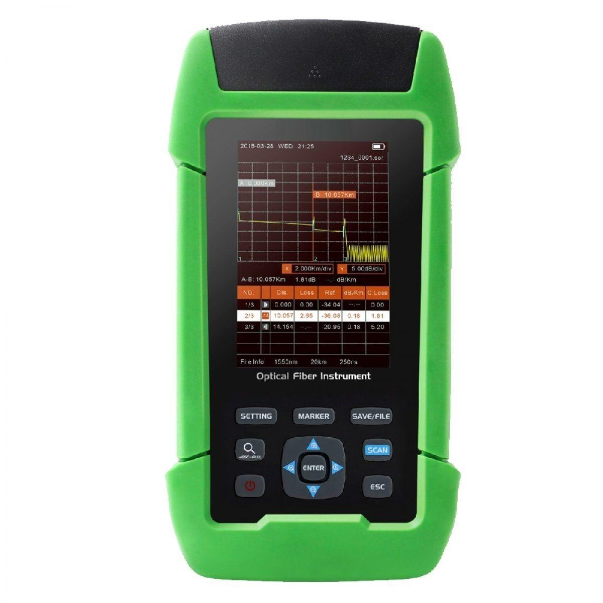 Оптический рефлектометр KIWI-7300 (1310/1550нм, 22/20дБ, PM, VFL)