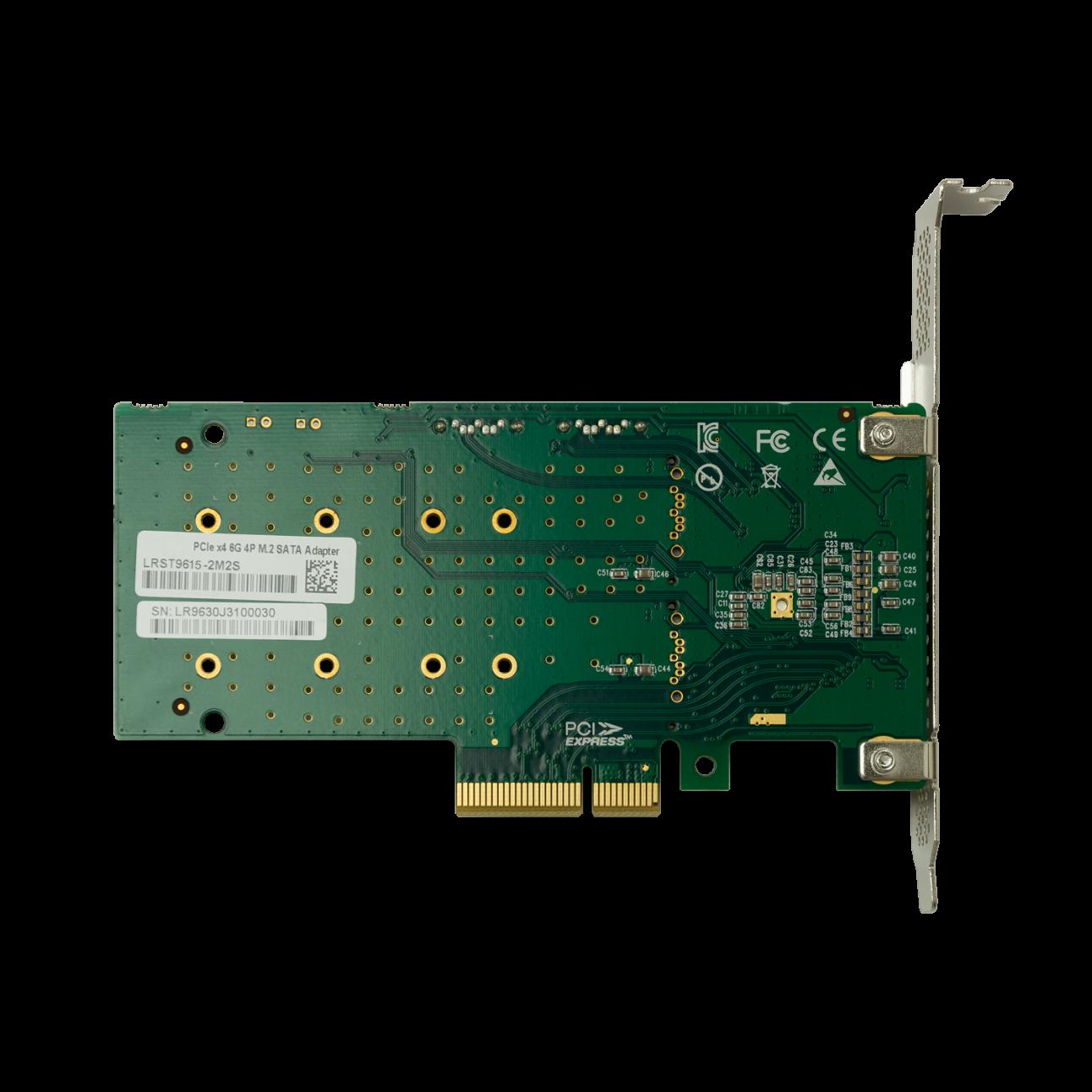 Переходной адаптер PCIe 2.0 x4 на 2xM.2 и 2xSATA