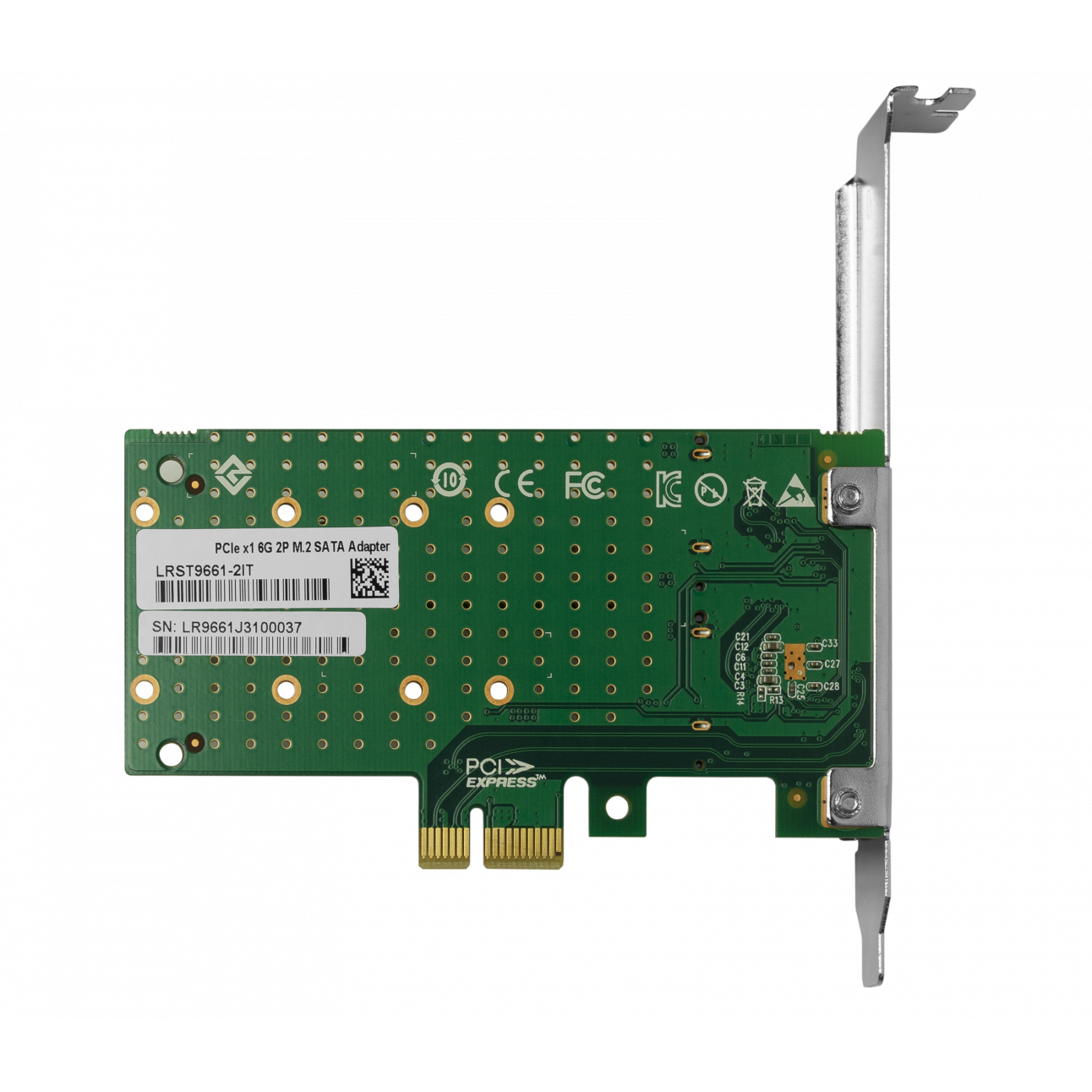 Переходной адаптер PCIe 2.0 x1 на 2xM.2 NVMe