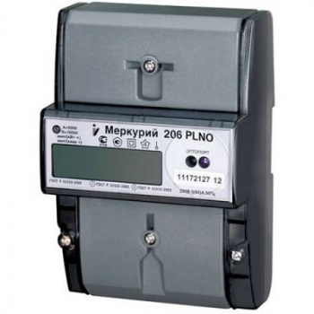 """Счетчик """"Меркурий"""" 206 RNO 5-60А, 1.0/2.0 класс, многотарифный, оптопорт RS485, ЖКИ"""