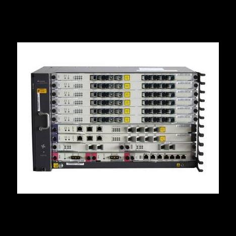 6RU шасси Huawei OLT GPON, 6 слотов для установки интерфейсных модулей, 4 порта 10G, 8 GPON портов, DC