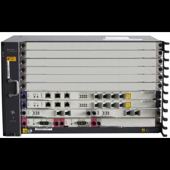 6RU шасси Huawei OLT GPON, 6 слотов для установки интерфейсных модулей, 2x10G порта