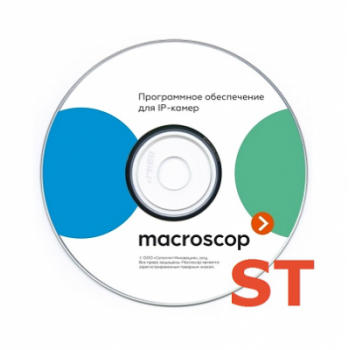 Программное обеспечение MACROSCOP ST x64, лицензия на работу с 1-й IP камерой