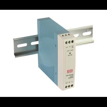 MDR-10-24 Компактный блок питания на DIN-рейку, 24В, 0,42А, 10Вт Mean Well