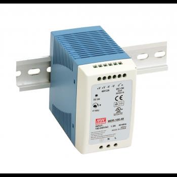 MDR-100-12 Компактный блок питания на DIN-рейку, 12В, 7,5А, 100Вт Mean Well