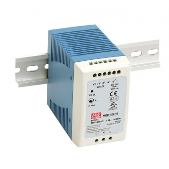 MDR-100-48 Компактный блок питания на DIN-рейку, 48В, 2А, 100Вт Mean Well
