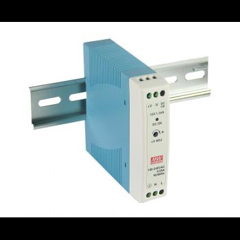 MDR-20-12 Компактный блок питания на DIN-рейку, 12В, 1,67А, 20Вт Mean Well