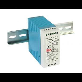 MDR-40-24 Компактный блок питания на DIN-рейку, 24В, 1,7А, 40Вт Mean Well