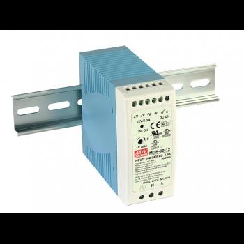 MDR-60-12 Компактный блок питания на DIN-рейку, 12В, 5А, 60Вт Mean Well