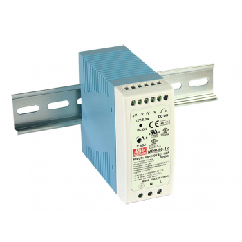 MDR-60-24 Компактный блок питания на DIN-рейку, 24В, 2,5А, 60Вт Mean Well