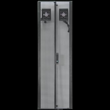 Дверь перфорированная для шкафов Metal Box  42U, ширина 600мм, с вентиляторами