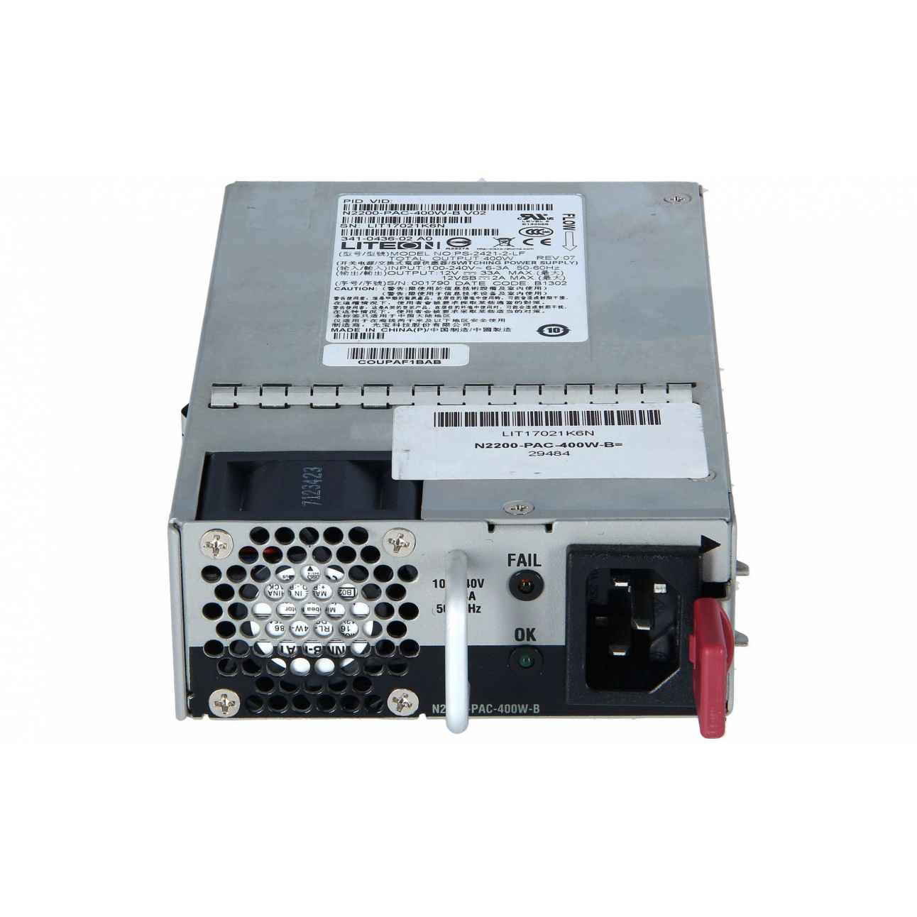 Блок питания Cisco N2200-PAC-400W-B
