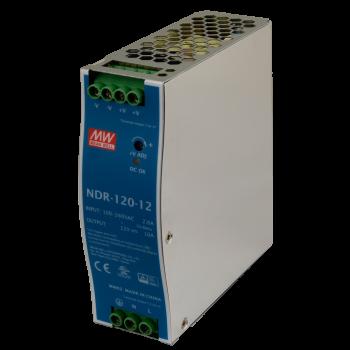 NDR-120-12 Блок питания на DIN-рейку, 12В, 10А, 120Вт Mean Well