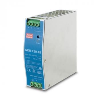 NDR-120-48 Блок питания на DIN-рейку, 48В, 2,5А, 120Вт Mean Well