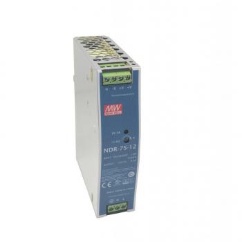 NDR-75-12 Блок питания на DIN-рейку, 12В, 6,3А, 75Вт Mean Well