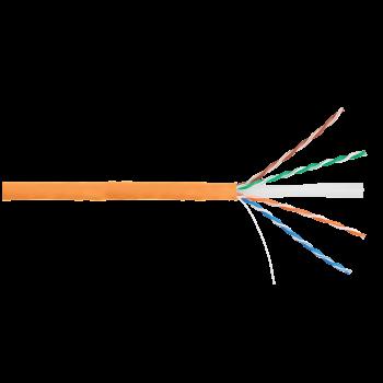 Кабель NIKOLAN U/UTP 4 пары, Кат.6 (Класс E), тест по ISO/IEC, 250МГц, одножильный, BC (чистая медь), 24AWG (0,53мм), внутренний, LSZH нг(А)-HFLTx