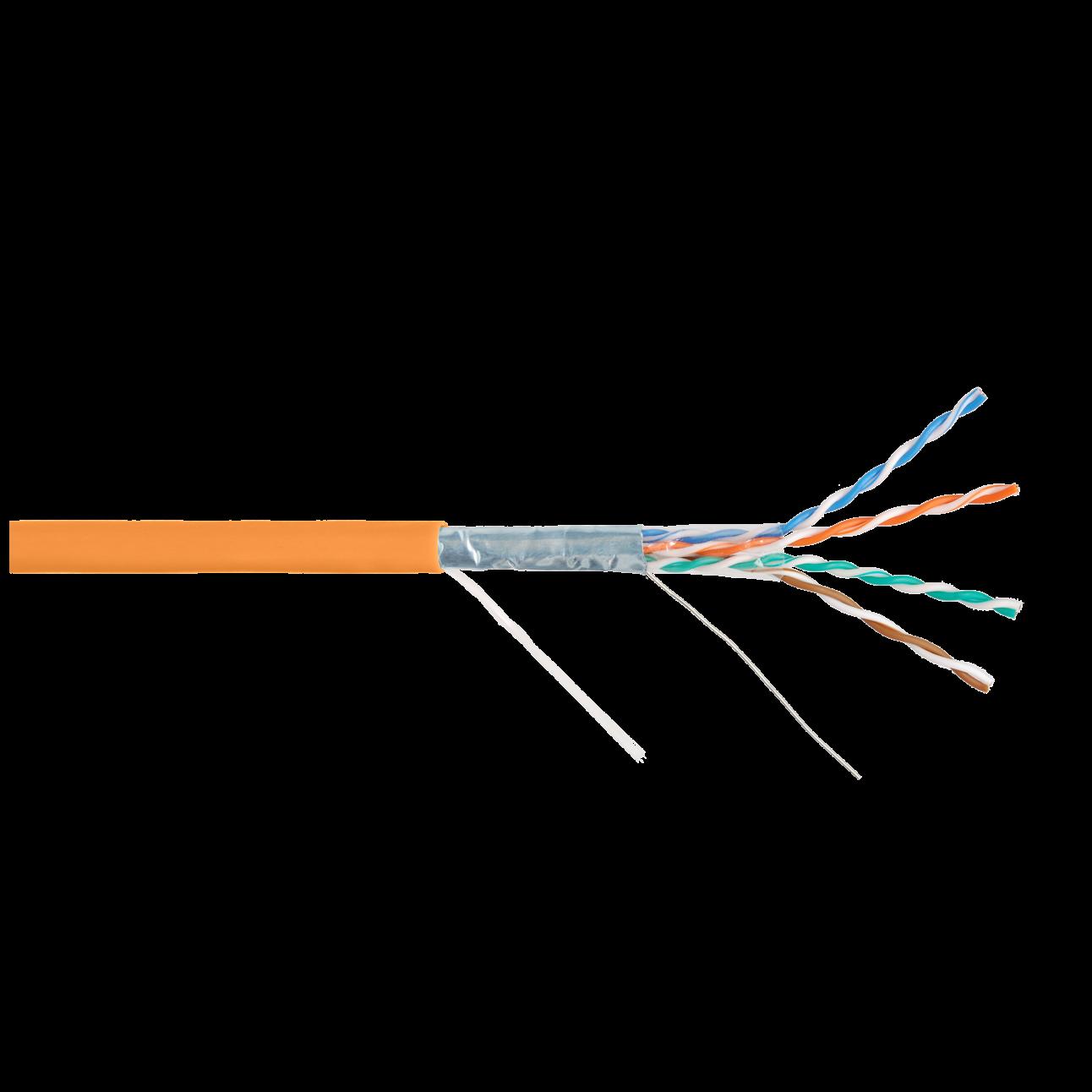 Кабель NIKOLAN F/UTP 4 пары, Кат.5e (Класс D), тест по ISO/IEC, 100МГц, одножильный, BC (чистая медь), 24AWG (0,50мм), внутренний, LSZH нг(А)-HFLTx