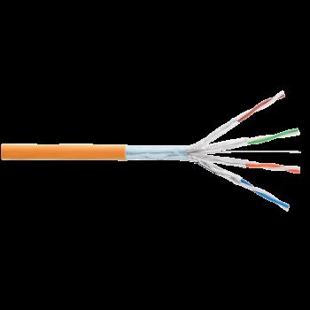 Кабель NIKOLAN F/FTP 4 пары, Кат.6 (Класс E), тест по ISO/IEC, 250МГц, одножильный, BC (чистая медь), 23AWG (0,57мм), внутренний, LSZH нг(А)-HFLTx