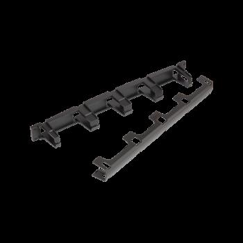 """Кабельный органайзер NIKOMAX 19"""", 1U, глубина колец 70мм, пластиковый, с крышкой, черный."""