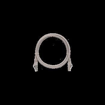 Коммутационный шнур NIKOMAX F/UTP 4 пары, Кат.5е, 26AWG, LSZH нг(А)-HFLTx, серый, 1,5м