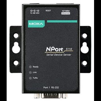NPort 5110 1-портовый асинхронный сервер RS-232 в Ethernet MOXA