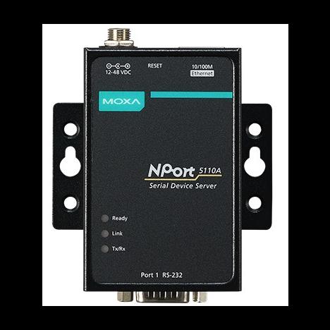 NPort 5110A 1-портовый усовершенствованный асинхронный сервер RS-232 в Ethernet MOXA