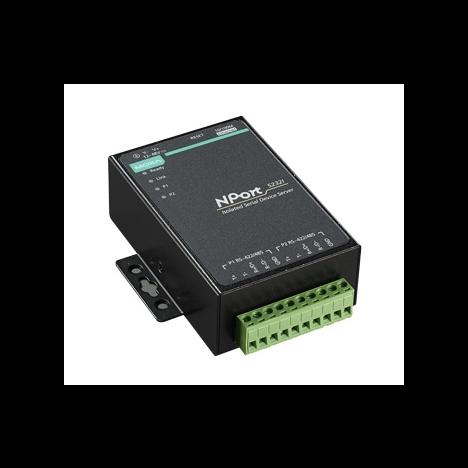 NPort 5232I-T 2-портовый преобразователь RS-422/485 в Ethernet с изоляцией 2 КВ с расширенным диапазоном температур