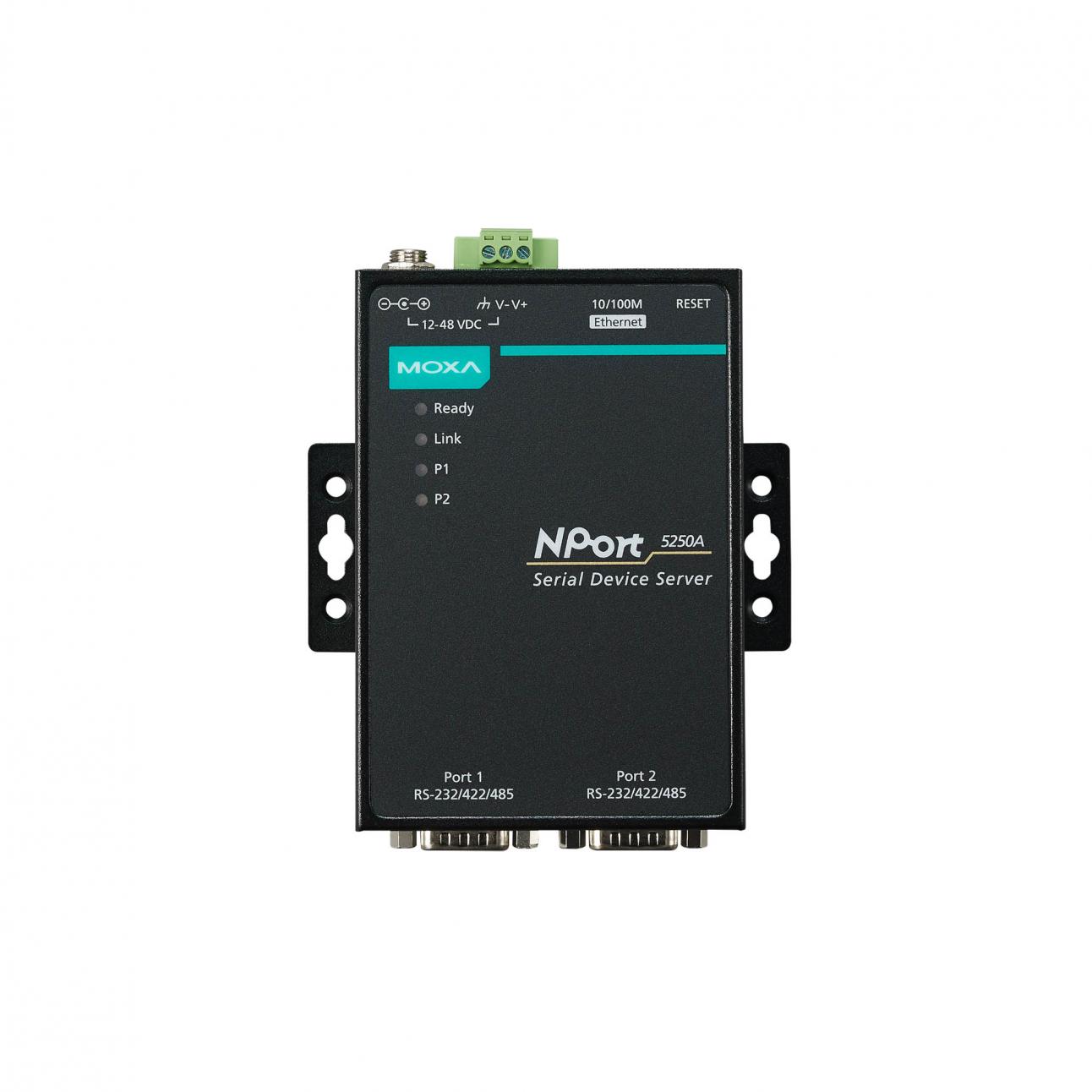 NPort 5250A 2-портовый усовершенствованный преобразователь RS-232/422/485 в Ethernet