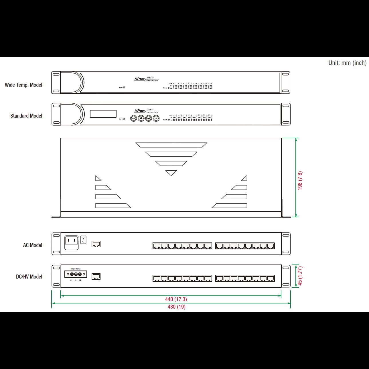 NPort 5630-8, 8-портовый асинхронный сервер RS-422/485 в Ethernet