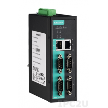 NPort IA5450A 4-портовый усовершенствованный асинхронный сервер RS-232/422/485 в Ethernet MOXA