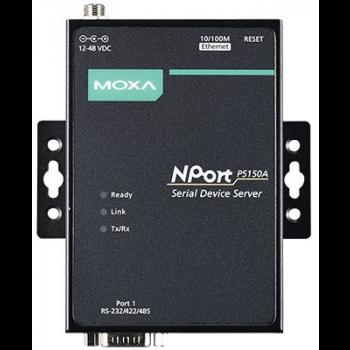 NPort P5150A 1-портовый сервер RS-232/422/485 в Ethernet с возможностью питания через Ethernet (PoE, стандарт IEEE 802.3af) MOXA