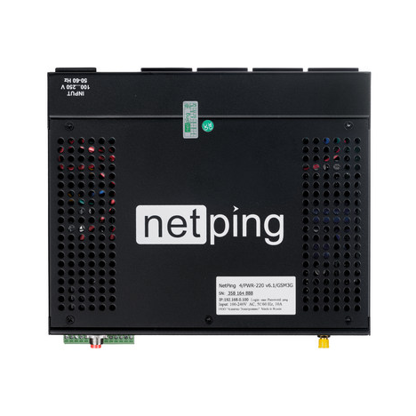 Устройство NetPing 4/PWR-220 v6.2/GSM3G (Разъём Schuko)