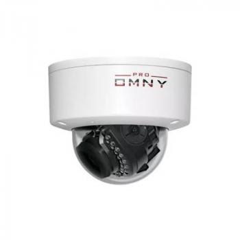 Проектная IP камера OMNY M14E 2812 купольная OMNY PRO серии Мира. 4Мп/25кс, H.265, управл. IR, мотор.объектив 2.8-12мм, PoE/12В (имеет потертости)