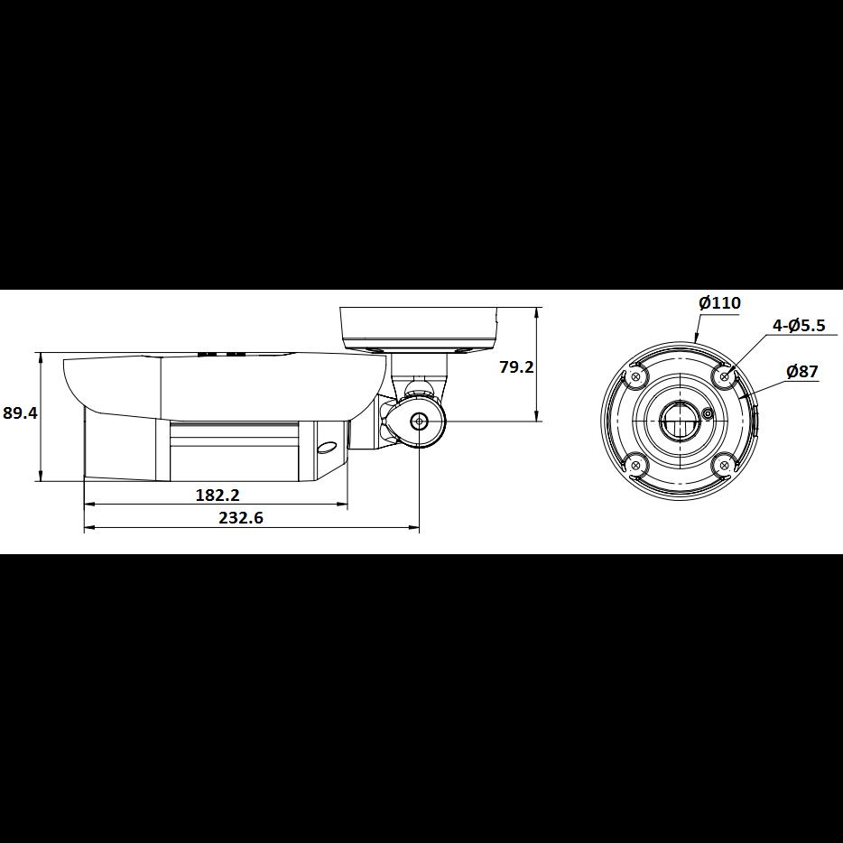 Проектная IP камера OMNY M54E 2812 уличная OMNY PRO серии Мира. 4Мп/25кс, H.265, управл. IR, моториз.объектив 2.8-12мм, PoE, EasyMic