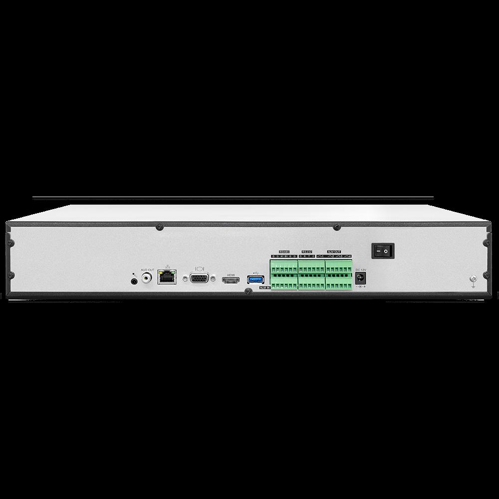 IP Видеорегистратор сетевой OMNY PRO 40 каналов, вх/исх битрейт 400/200Mbits, 4xHDD до 10Тб каждый, 1xHDMI/VGA, 1xGE, трев вх/вых  16/4