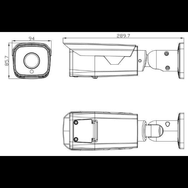 IP камера OMNY BASE ViBe2Z-WDU v3 буллет 2Мп (1920×1080) 30к/с, 2.7-13.5мм мотор, F1.3, 802.3af A/B, 12±1В DC, ИК до 50м, EasyMic, real WDR 120дБ