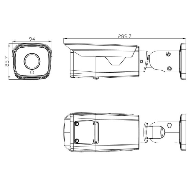 IP камера OMNY BASE ViBe8Z буллет 8Мп (3840×2160) 15к/с, 2.8-12 мм мотор., F1.6, 802.3af A/B, 12±1В DC, ИК до 50м, EasyMic