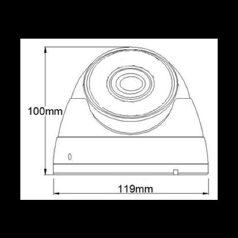 IP камера OMNY BASE ViDo2-WD купольная 2Мп (1920×1080) 30к/с, 2.7-13.5мм ручной, 802.3af A/B, 12±1В DC, ИК до 30м, EasyMic (следы эксплуатации)