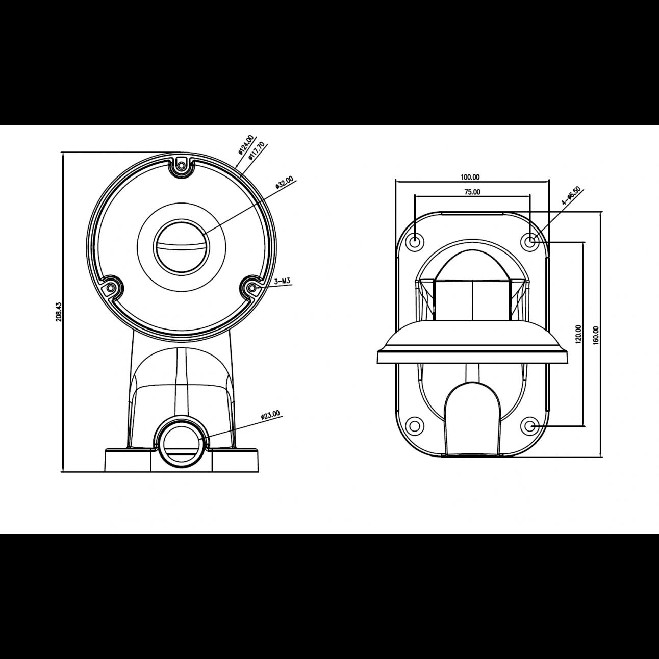 Настенный кронштейн для мини камер 404M, 606M