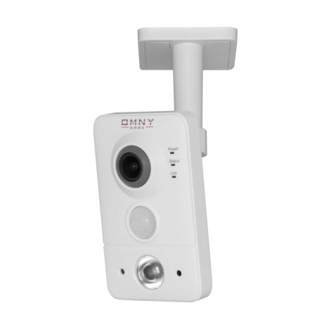 IP камера видеонаблюдения OMNY серия BASE miniCUBE W: офисная 1.3 Мп, Wi-Fi, PoE, 12 В, микрофон, динамик, блок питания в комплекте