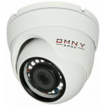 IP камера OMNY BASE miniDome2E v1.1 S41, 2Мп (1920×1080) 25к/с,2.8мм, 802.3af A/B, 12±1В DC, ИК до 25м, встр.микр, DWDR, без microSD/USB