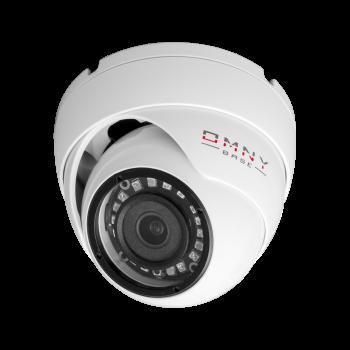 IP камера OMNY BASE miniDome2E-U v2 миникупольная 2Мп (1920×1080) 25к/с, 2.8мм, F1.8, 802.3af A/B, 12±1В DC, ИК до 25м, встр.микр, DWDR, USB2.0